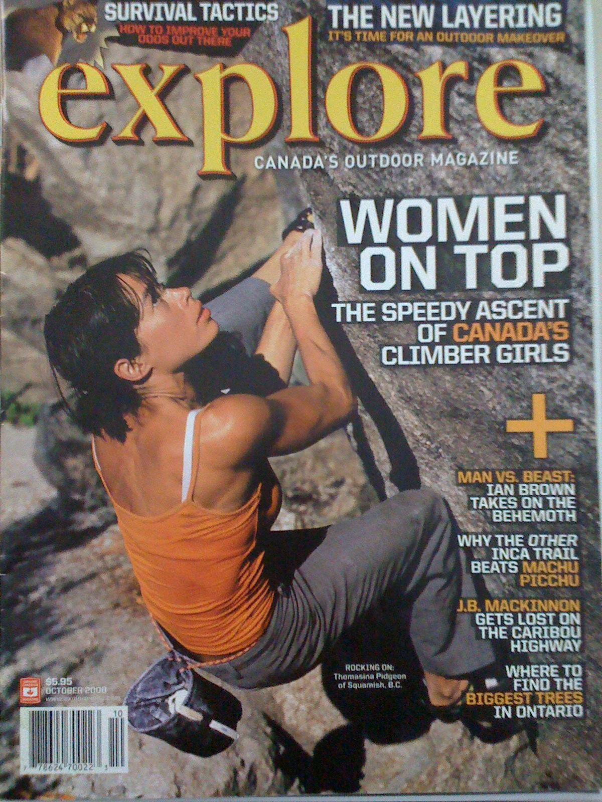 explore magazine, Canadian climbers, climbing women