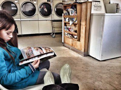 road trip, laundry, bishop california