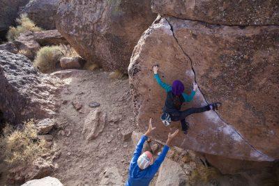 rios crack, bishop bouldering, kid crusher, kid climber