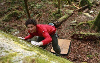 squamish bouldering, brad t, slab climbing