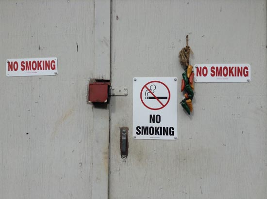 no smoking, squamish, shed