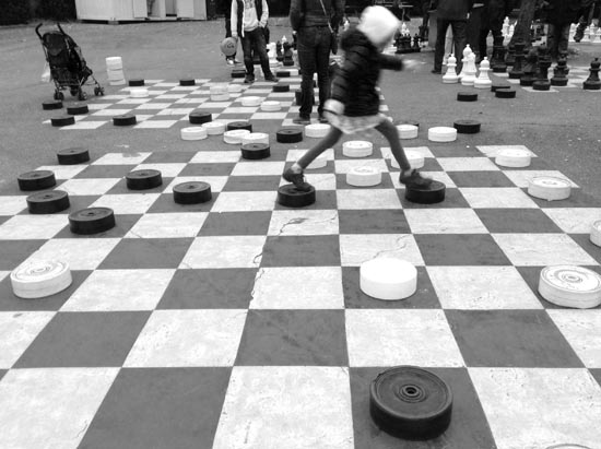 geneva, checkers, human sized checkers