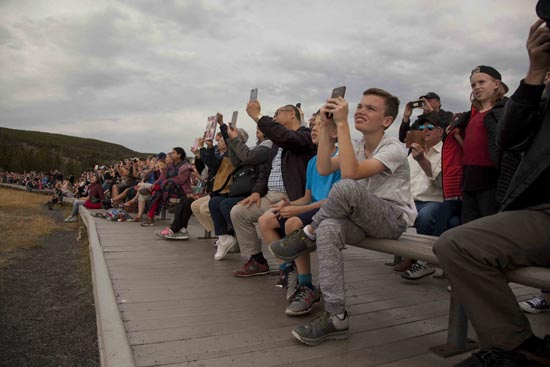 media overload, addicted to our devices, yellowstone national park, photojournalist, documentary photography